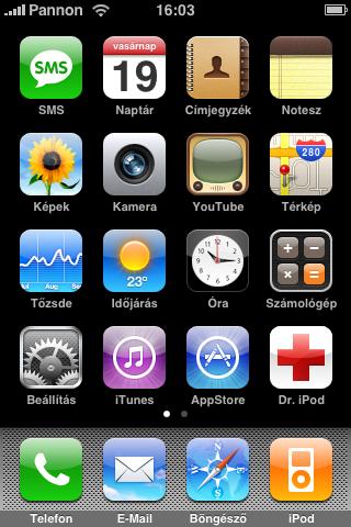 Dr. iPod könyvjelző ikon