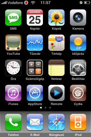 Vodafone fekete alappal