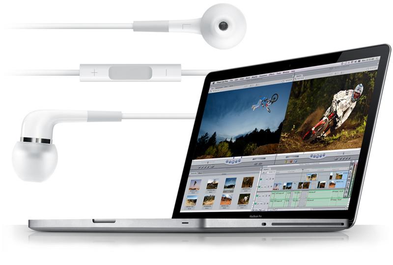In-Ear fülhallgató szereti a Unibody Macbook Pro-t