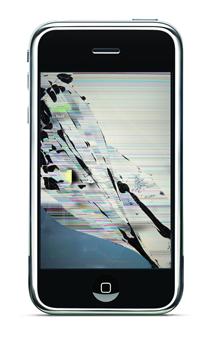 iPhone törött kijelző