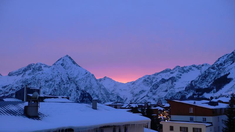 Les Deux Alpes-i naplemente